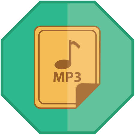 mp3: mp3 file Illustration