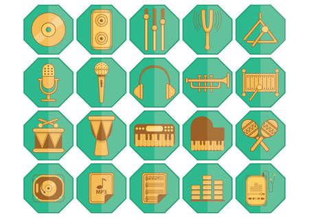equalizer sliders: music icons Illustration