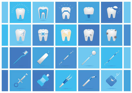 scaler: dental collection Illustration
