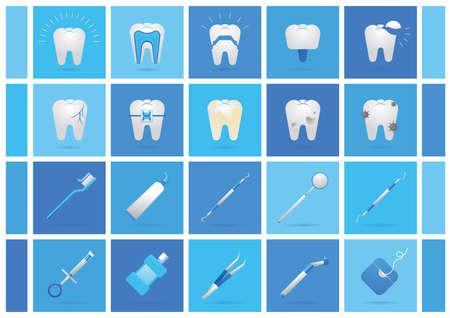 dental collection Illustration