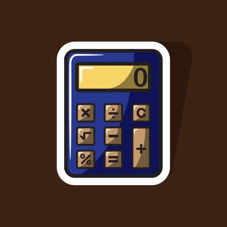 calculating: calculator Illustration