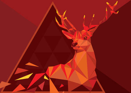 faceted: faceted deer