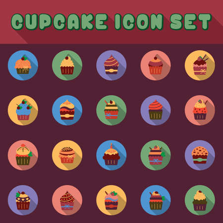 cup cakes: set of cup cakes