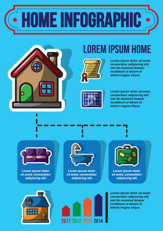 suit case: infographic of home icons