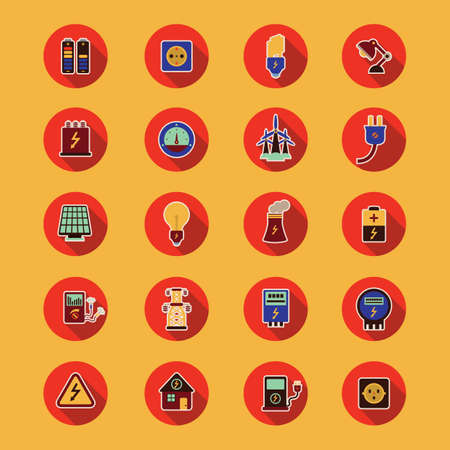 electric meter: set of electric icons