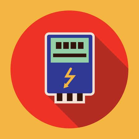 electricity meter: electricity digital meter