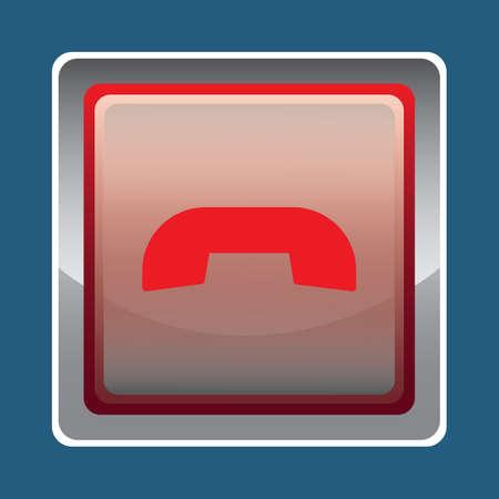 end: end call button