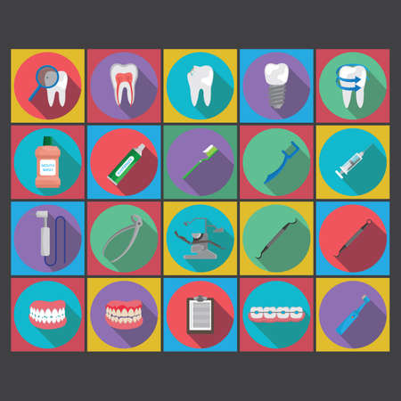 dentures: collection of dental icons