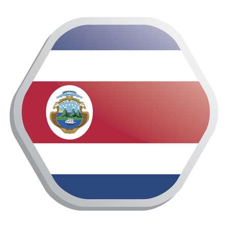 bandera de costa rica: bandera de Costa Rica Vectores