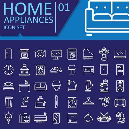 set of home appliances