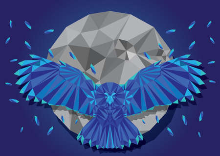 faceted: faceted eagle Illustration