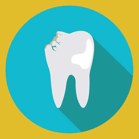 破損した歯 写真素材 - 81469451