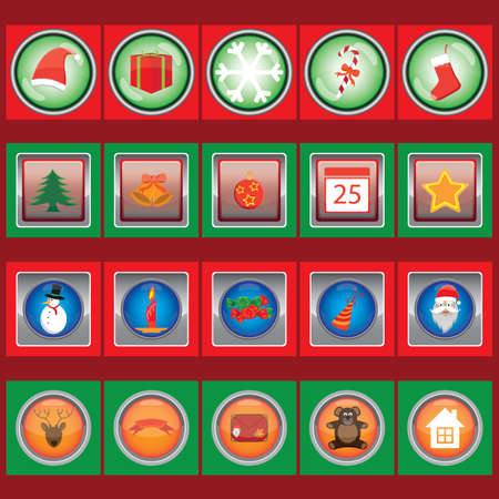 items: collection of christmas items