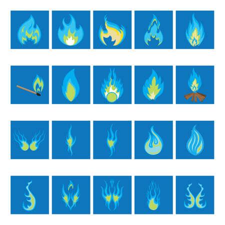 blue flame: blue fire flame Illustration