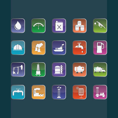 hard cap: set of oil and gas icons