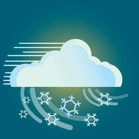 breeze: cloud and snowflake Illustration