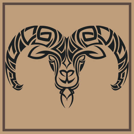 ram tattoo design