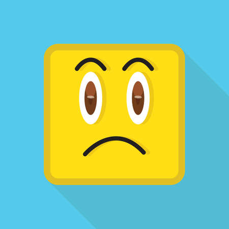 disappointed: emoticon looking disappointed Illustration