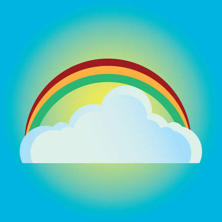 cloudscapes: cloud and rainbow