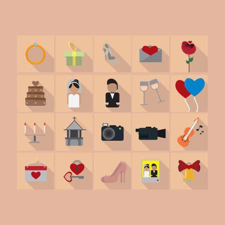 flute key: wedding icons