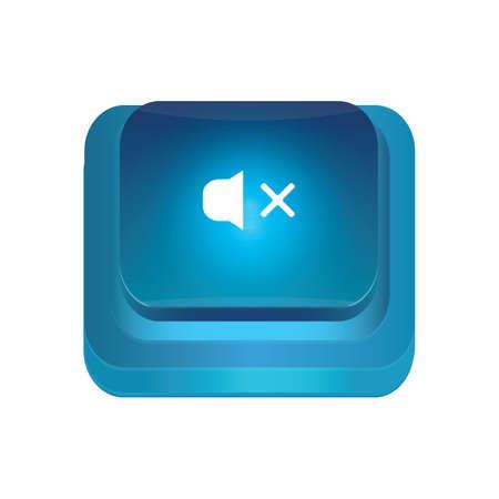 mute: mute button Illustration