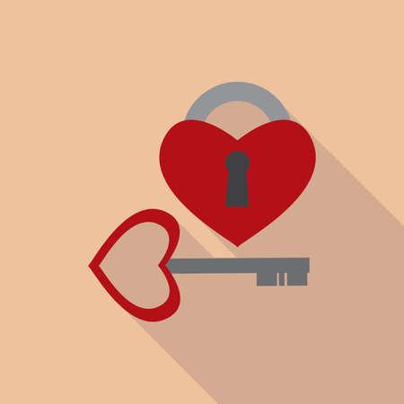 heart shaped: heart shaped lock and key