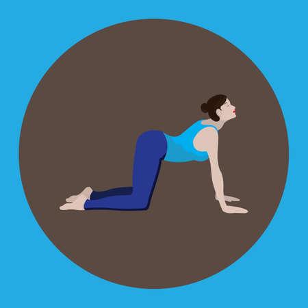 flexible woman: woman doing yoga Illustration