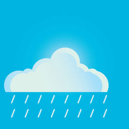 cloud: cloud and rain Illustration