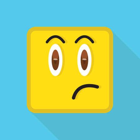émoticône regardant insatisfait