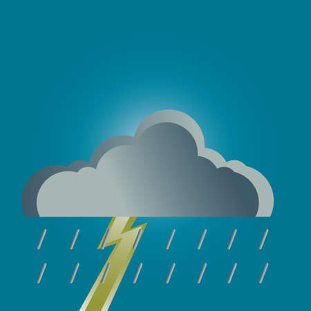 cloud: rain cloud and thunder