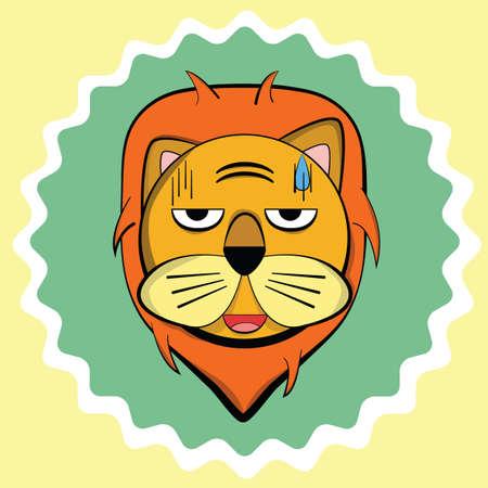 sweating: lion sweating