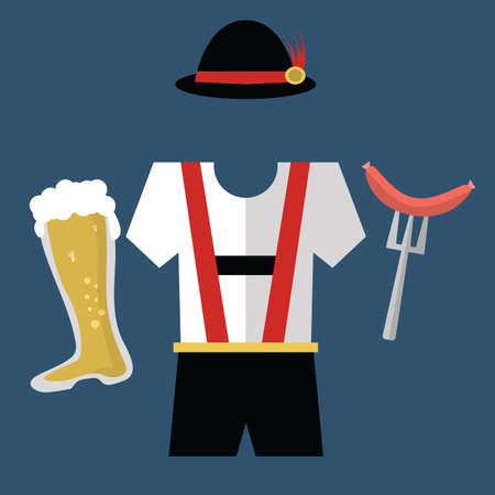 lederhosen: lederhosen with beer and sausage