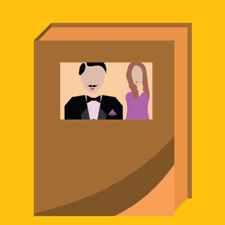 wedding: wedding album Illustration