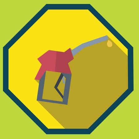 nozzle: fuel filling nozzle Illustration