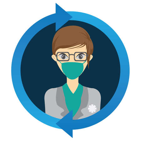 surgical mask: dentist Illustration