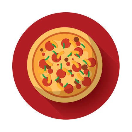 plated: pizza Illustration