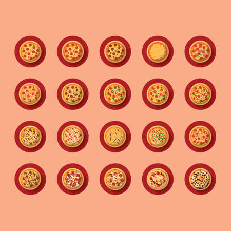 plated: pizza icons