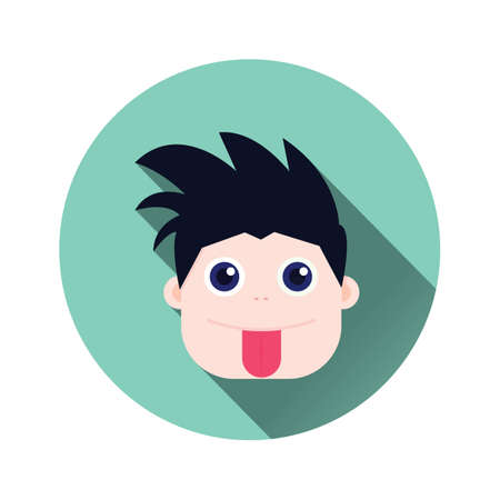 cheek: boy with tongue out of cheek Illustration