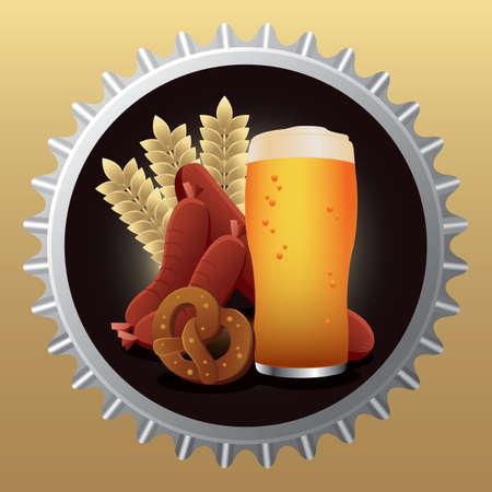 bavarian: bavarian food Illustration