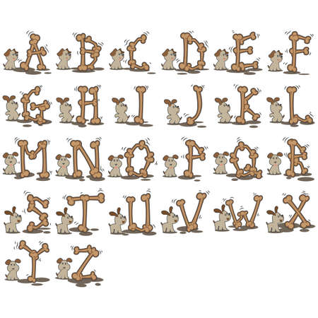 alphabet dog set