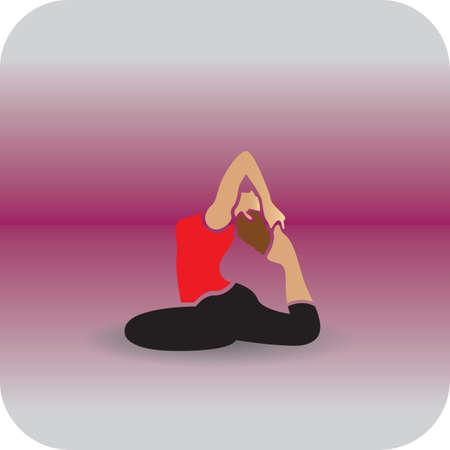 ragazza praticare yoga in una gamba re piccione pongono