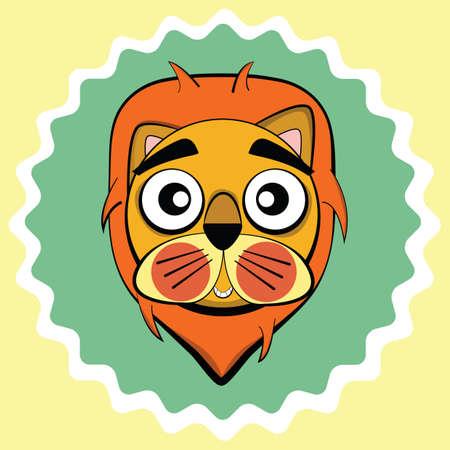 blushing: lion blushing Illustration