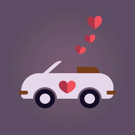 nuptials: wedding car Illustration