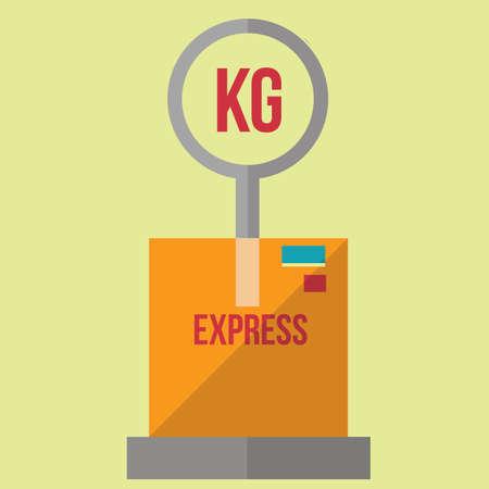 weighing: parcel on weighing machine