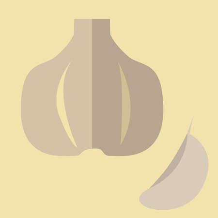 onion slice: garlic Illustration