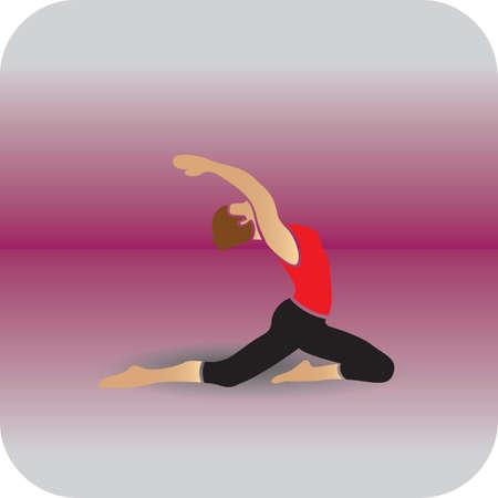 girl practising yoga in backbending pose