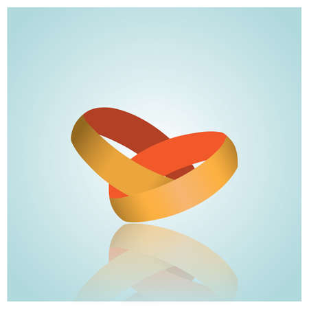 interlock: wedding rings Illustration