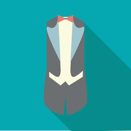 formal attire: tuxedo Illustration