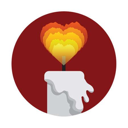 heart burn: candle