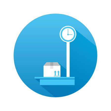 weighing machine: parcel on weighing machine
